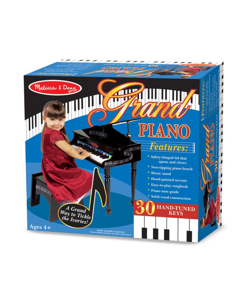 deluxe wooden grand piano