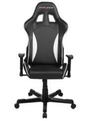 DXRacer Formula Series FH57 Gaming Chair (Black and White) for