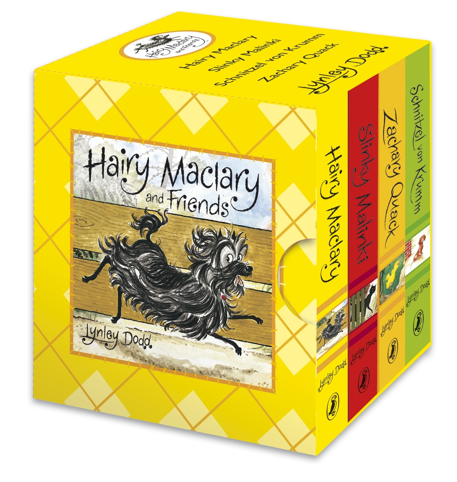 Hairy Maclary and Friends Little Library Boxed Set (4 Board Books) by Lynley Dodd image