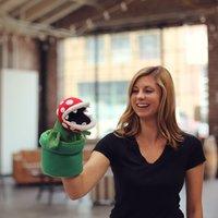 """Super Mario Bros: Piranha Plant - 10"""" Plush Puppet"""