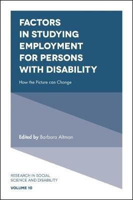 Factors in Studying Employment for Persons with Disability image