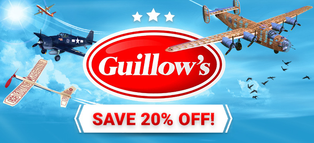 Save 20% off Guillows Model Kits!
