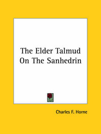 The Elder Talmud on the Sanhedrin