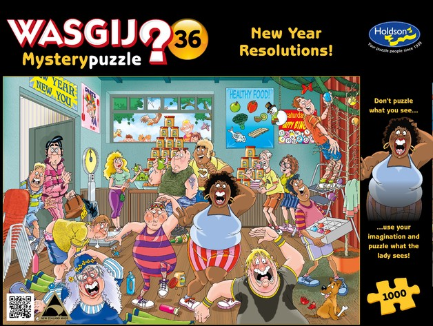 Wasgij: 1000 Piece Puzzle - Original #36 (A New Year Resolutions)