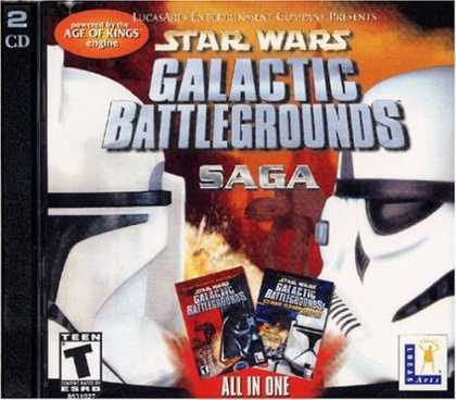 Star Wars Galactic Battlegrounds Saga (Jewel Case packaging) for PC Games