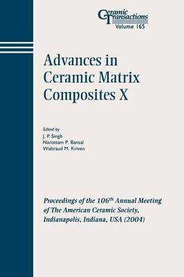 Advances in Ceramic Matrix Composites X image