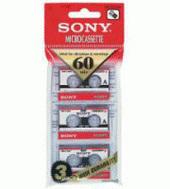 Sony 3MC60A Micro Audio Tape 60 MIN [3 Pack]