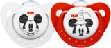 NUK: Mickey Silicone Soothers - Red/White - Size 2 - 2pk