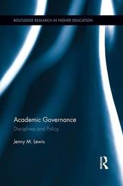 Academic Governance by Jenny M. Lewis