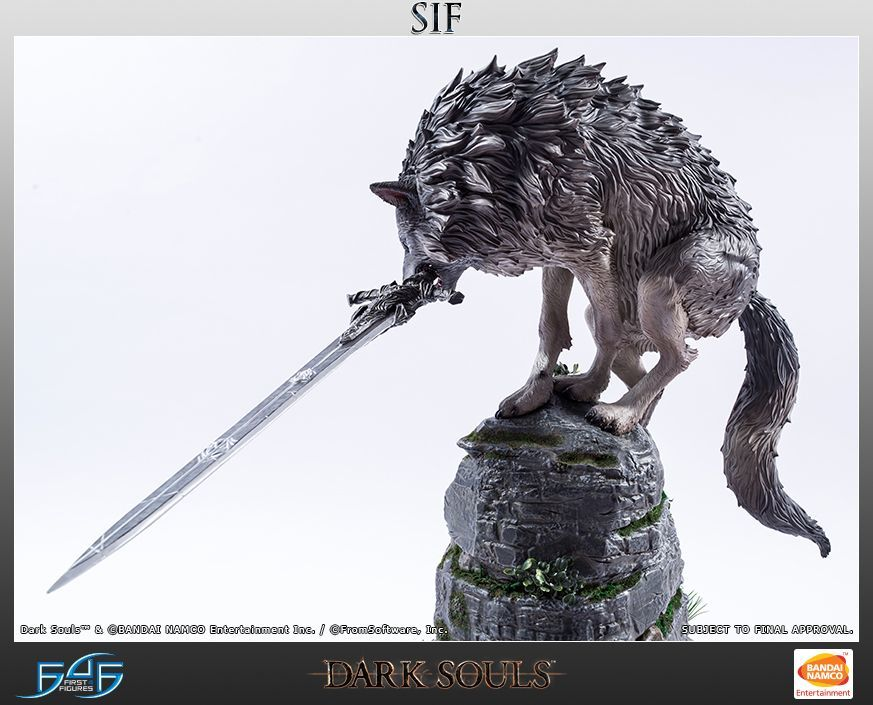 """Dark Souls - Sif the Great Grey Wolf 25"""" Statue 