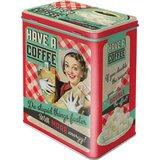 Say it 50's Retro Storage Tin - Coffee (Large)