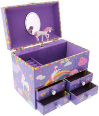 Pink Poppy Colour My Rainbow Medium Music Box - Lilac