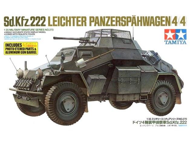 Tamiya 1/35 Sd.Kfz 222 w/Photo Etched Parts - Model Kit