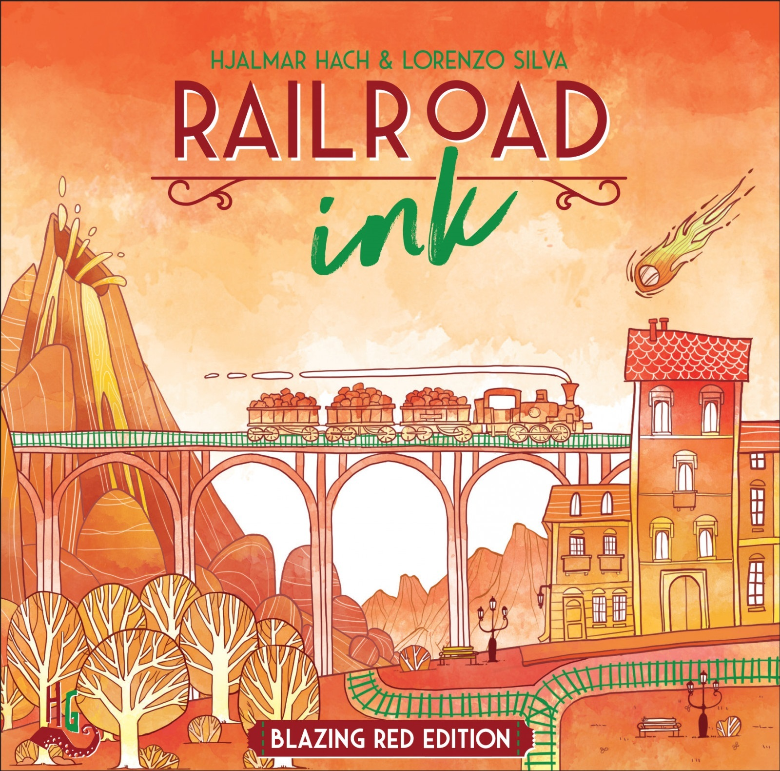 Railroad Ink: Blazing Red Edition - Board Game image