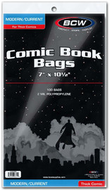 "BCW: Comic Book Bags - Thick Current (7"" x 10.5"")"