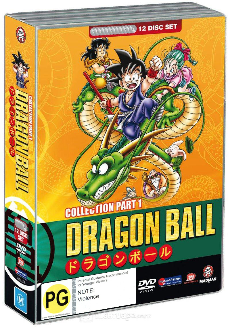 Dragon Ball Complete Collection Part 1 (Sagas 1-6) (Fatpack) on DVD image