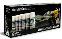 Italeri Acrylic Paint Set: WWII Luftwaffe