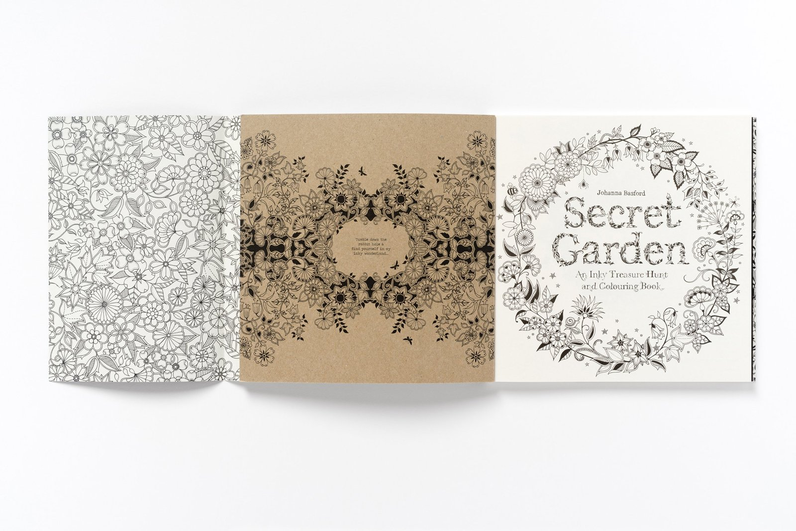 Secret Garden An Inky Treasure Hunt And Colouring Book By Johanna Basford Image