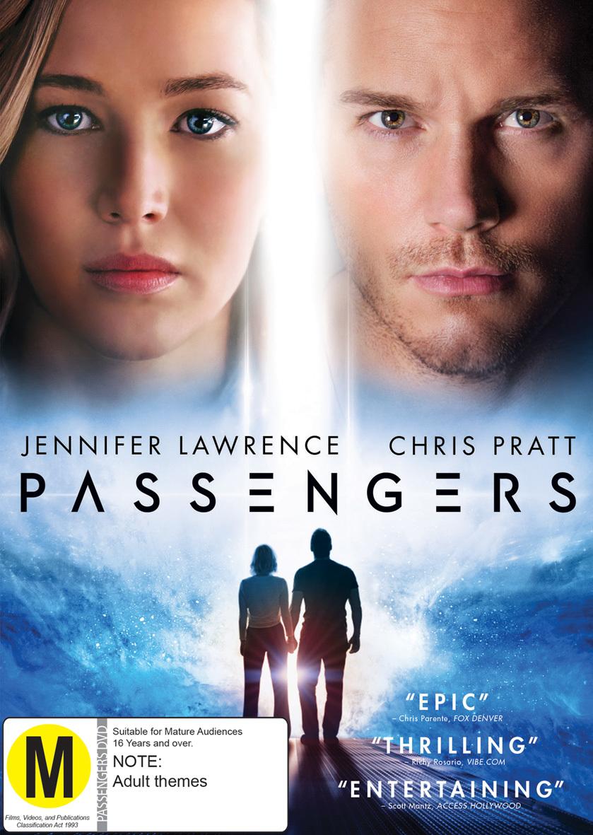 Passengers (2016) on DVD image
