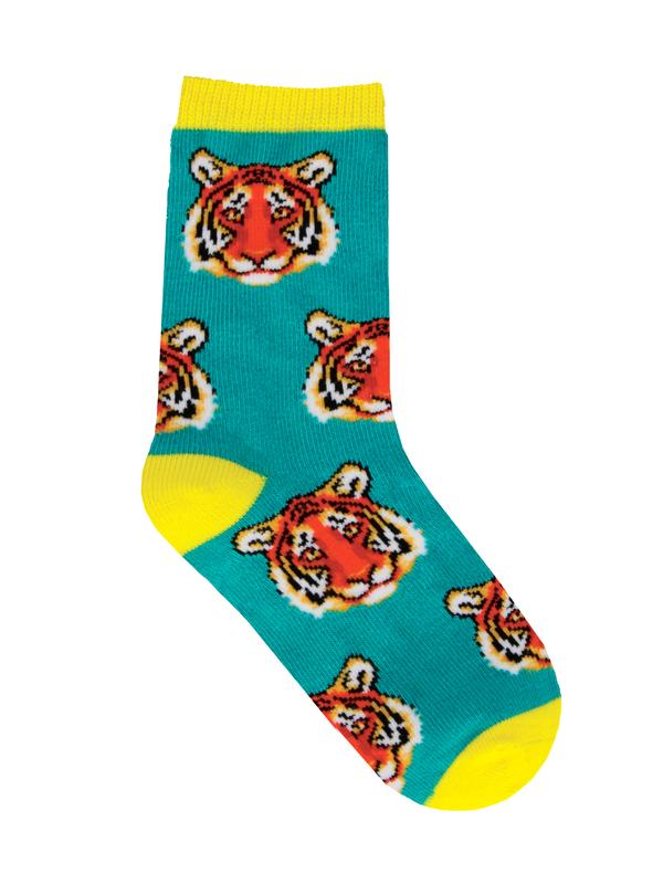 Socksmith: Kid's (7-10 Years) Earn Your Stripes Crew Socks - Teal