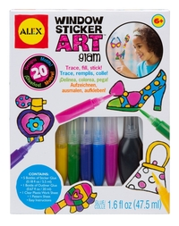 Alex: Window Sticker Art - Glam