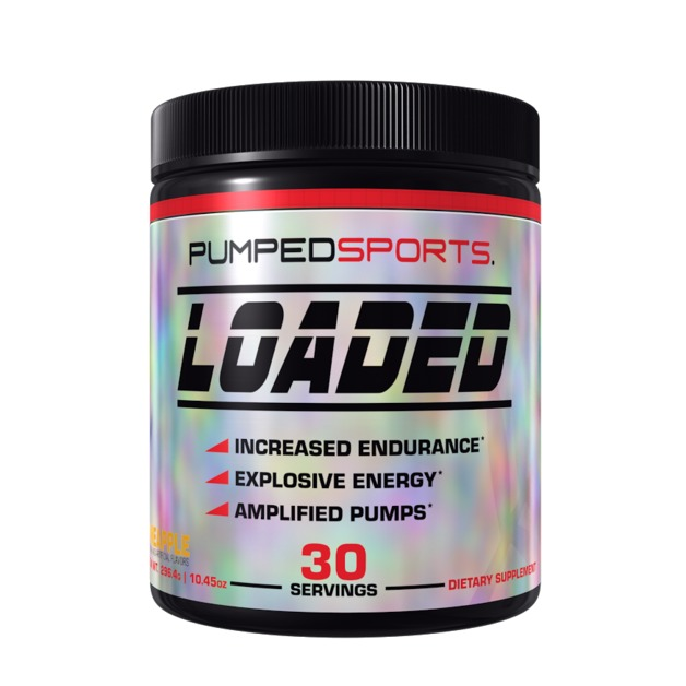 Pumped Sports Loaded Pre Workout - Pineapple Mano (30 Serves)