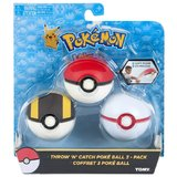 Pokémon: Throw n Catch Pokeball - Pokeball, Ultraball, Premierball