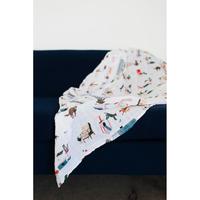 Little Unicorn - Single Cotton Muslin Swaddle - Meow image