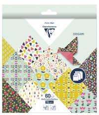 Clairefontaine: Origami 60 Sheets (3 Sizes) - Flowers