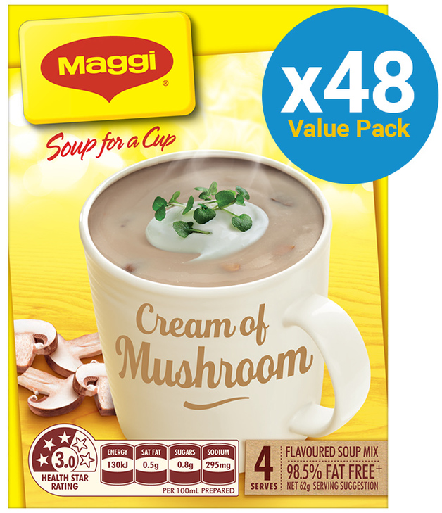 MAGGI Soup for a Cup Cream of Mushroom 62g 48pk