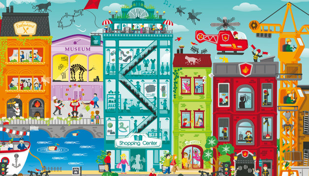 Hape: Animated City Puzzle
