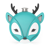 TrueZoo: Novelty Flask - Deer (Blue)