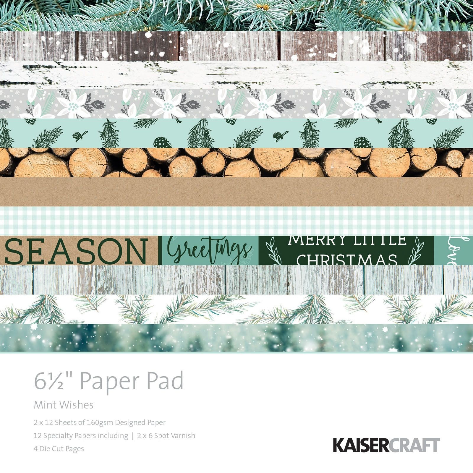 "Kaisercraft: Mint Wishes 6.5"" Paper Pad image"