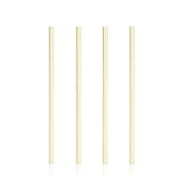 Viski: Belmont Wide Gold - Cocktail Straws (Set of 4)