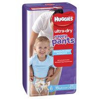 Huggies: Ultra Dry Nappy Pants Bulk - Size 6 Junior Boy (28)
