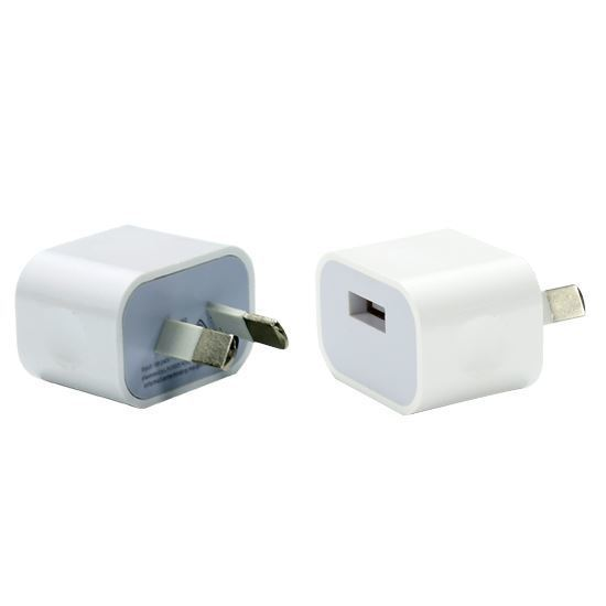 Dynamix SPAUSB-5V2.4A 5V 2.4A Small Form Single USB Wall Charger AU/NZ SAA Approved plug fast charging