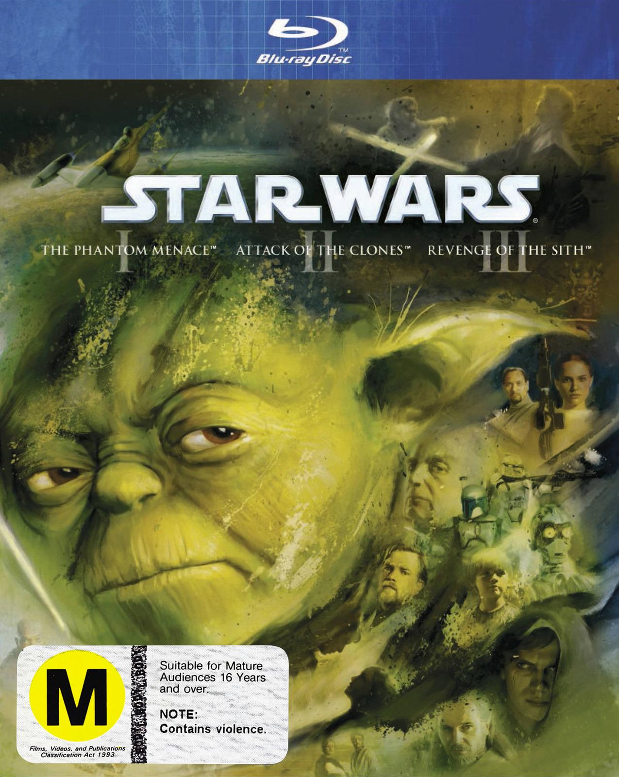 Star Wars I, II, III (Prequel Trilogy) on Blu-ray image