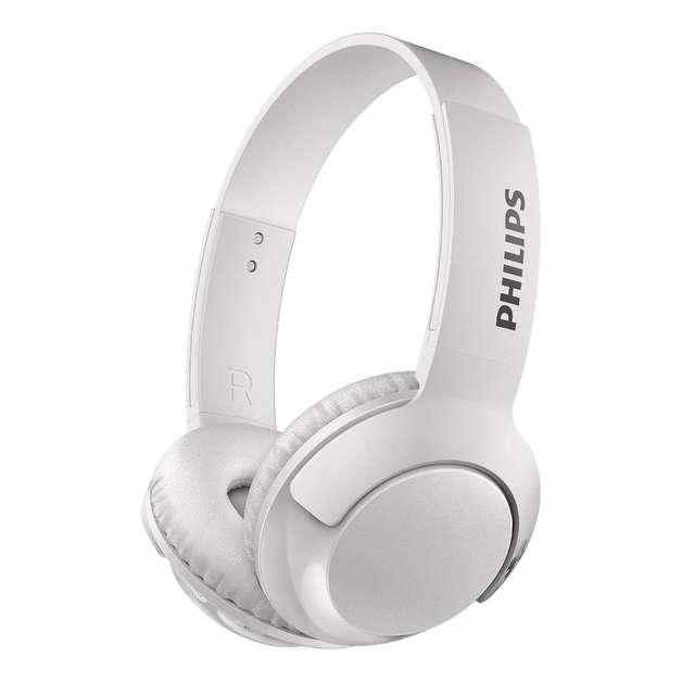 Philips Wireless On Ear Bluetooth Headphones (White)