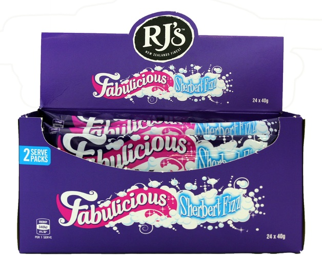 RJ's Fabulicious Sherbert Fizz (40g) - 24 Pack