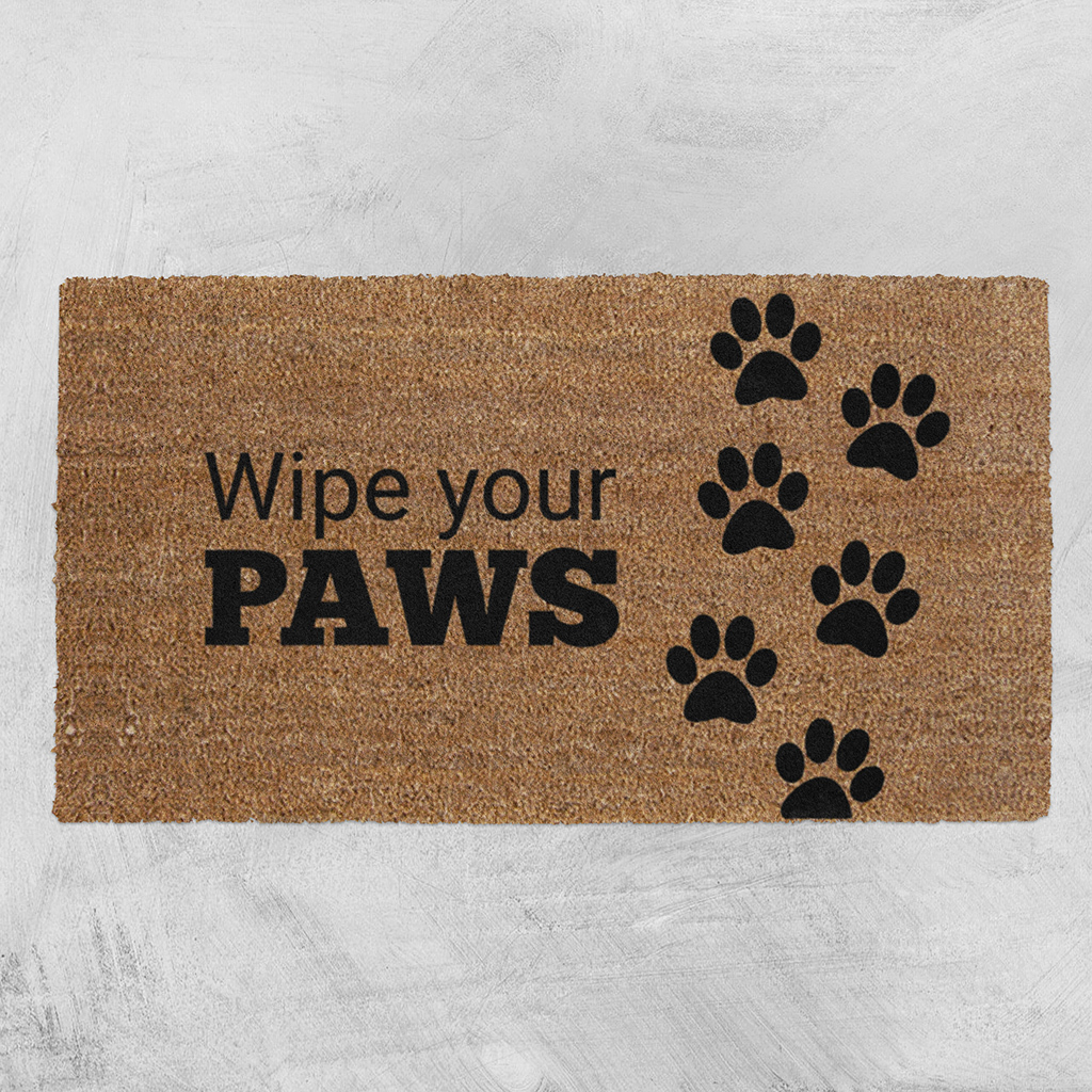 Natural Fibre Doormat Wipe Your Paws At Mighty Ape Nz