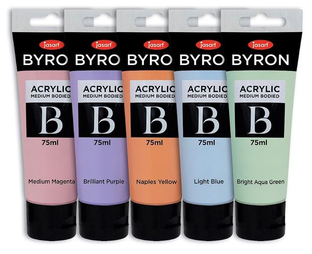 Jasart: Byron Acrylic Paint 75ml Pastel - Set of 5
