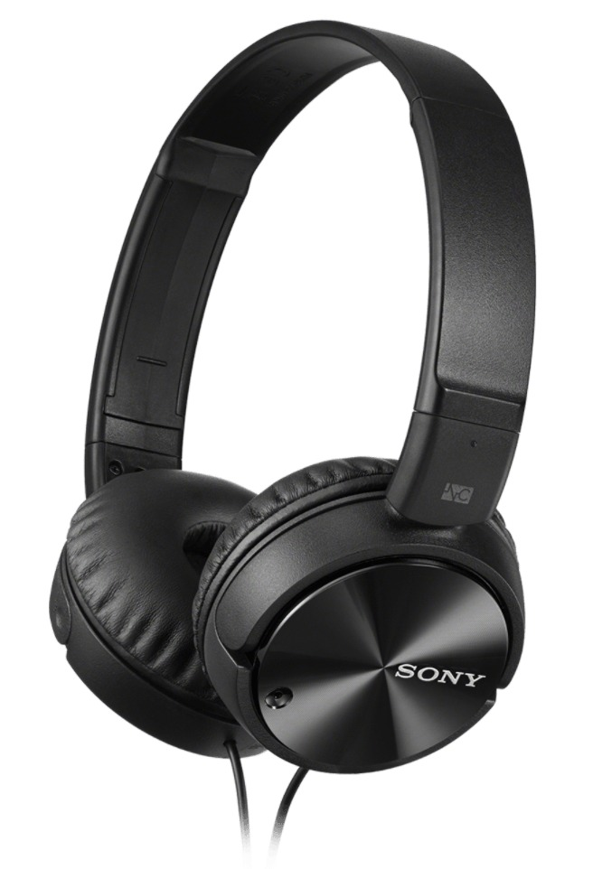 Sony: MDR-ZX110NC Overhead Noise Cancelling Headphones - Black image