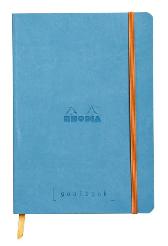 Rhodiarama A5 Goalbook Dot Grid - Turquoise