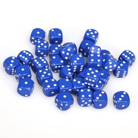 Chessex: D6 Opaque Cube Set (12mm) - Blue/White image