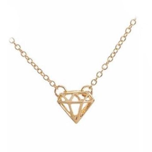Katy B Jewellery: Mini Diamond Necklace - Gold