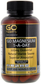 Go Healthy GO Magnesium 1-A-Day 500mg (60 Capsules)