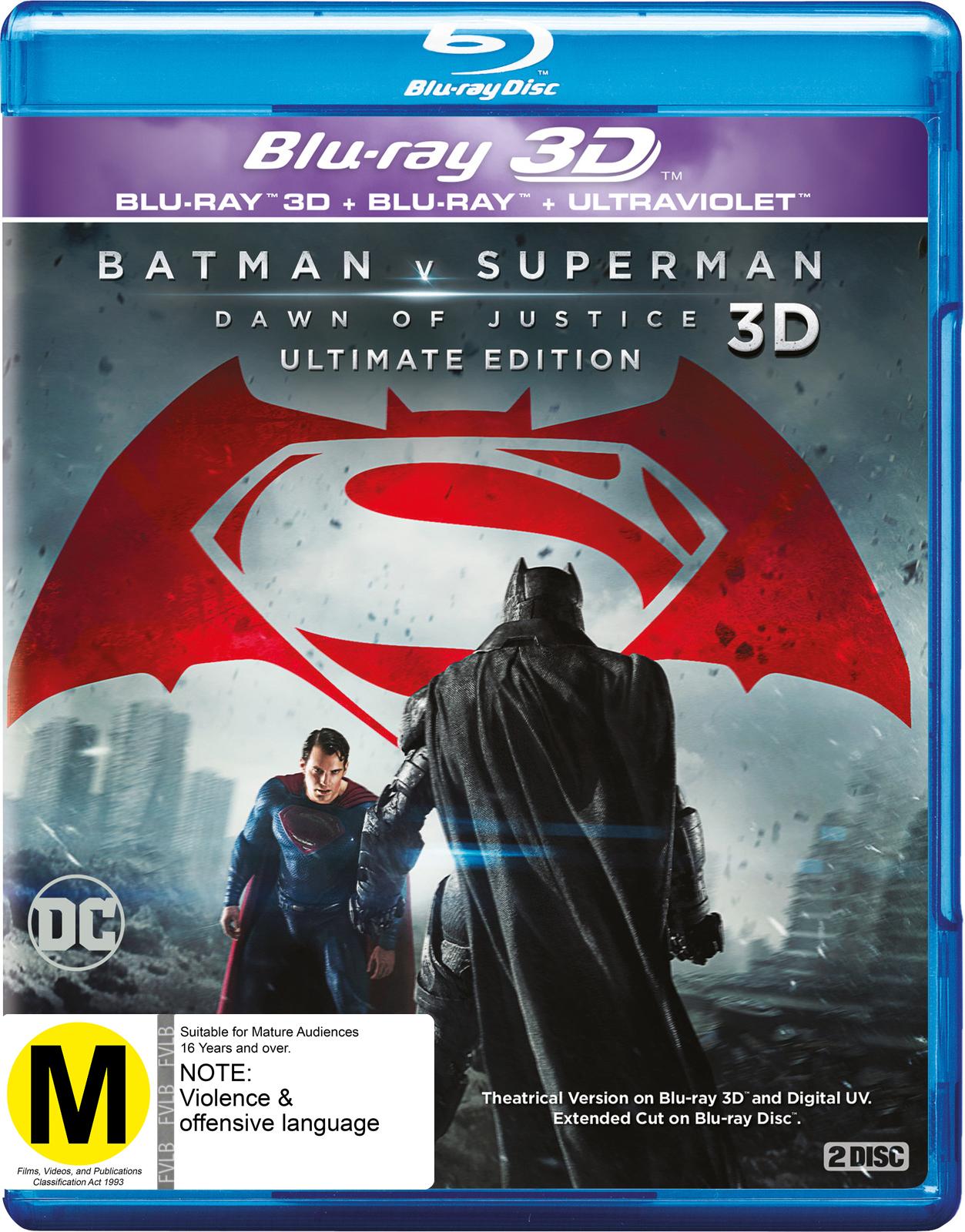 Batman v Superman: Dawn of Justice 3D on Blu-ray, 3D Blu-ray image