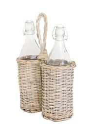 Bottles in a Basket - Willow (2 Piece)