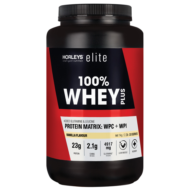 Horleys 100% Whey Plus - Vanilla (1kg)