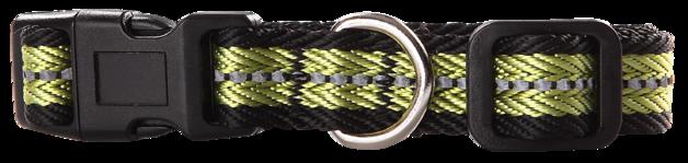 Pawise: Dog Reflective Collar - Green/Medium(35-50cm/20mm)